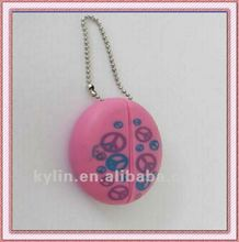 PVC plastic mini noctilucent coin holder with key chain