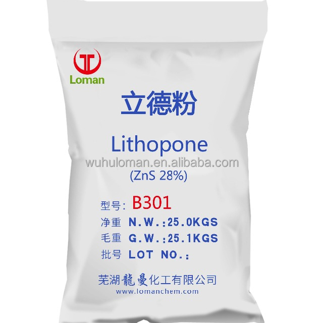 High Quality Lithopone 28%-30%/ B301 B311 &ZnS 28%