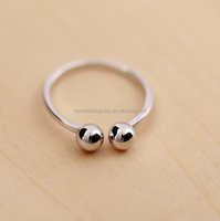 new arrival girls party ring 925 sterling silver stud round ball ring