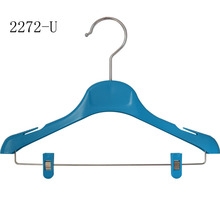 Custom Mini Colorful Kid Clothes Plastic Clips Hanger
