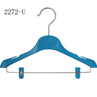 Custom Small Colorful Kids Clothes Plastic Hangers