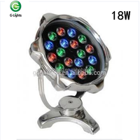 High quality RGB 18w IP68 304 stainless steel Swimming full color change rgb led pool light