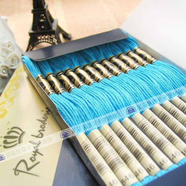 crochet thread dmc 100% cotton tread for weaving cross stitch threads box 447 colors floss threads