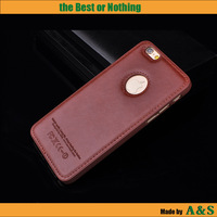 Wholesale Gird Leather PC cell Phone Case for iPhone 6 plus