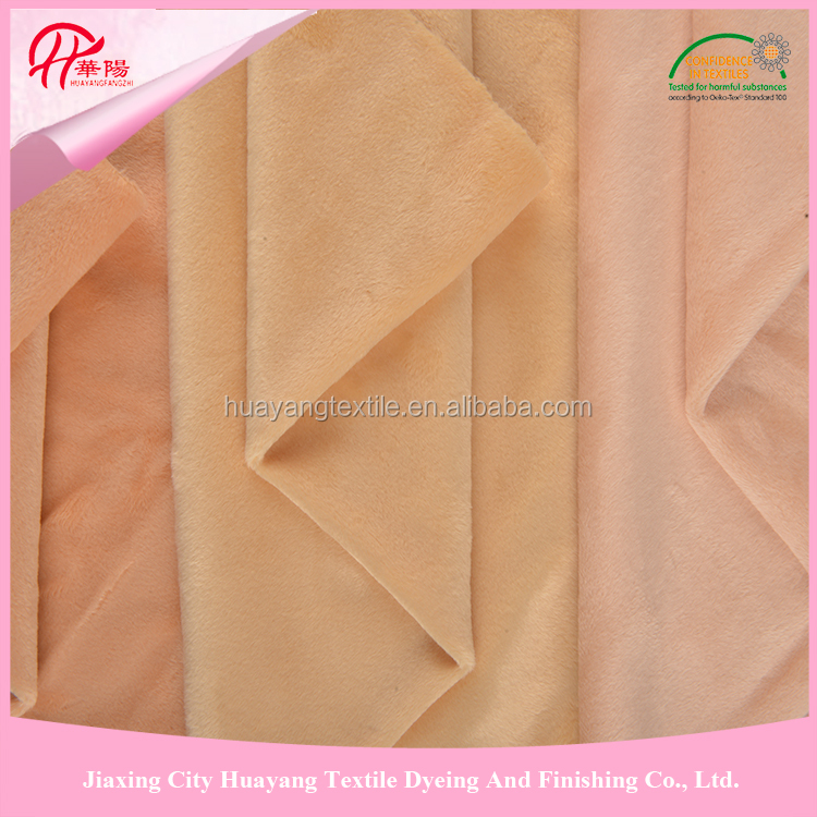 100% Polyester 160-350gsm weight 2015 micro velboa fabric, minky clothing lining