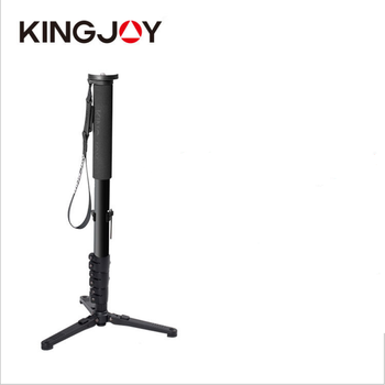 Black 167cm monopod for selfie stick and microphone stand without ball head