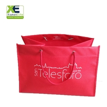 Red Large Reusable Shopping Foldable Promotion Non Woven Cloth Sublimation Blank Bag