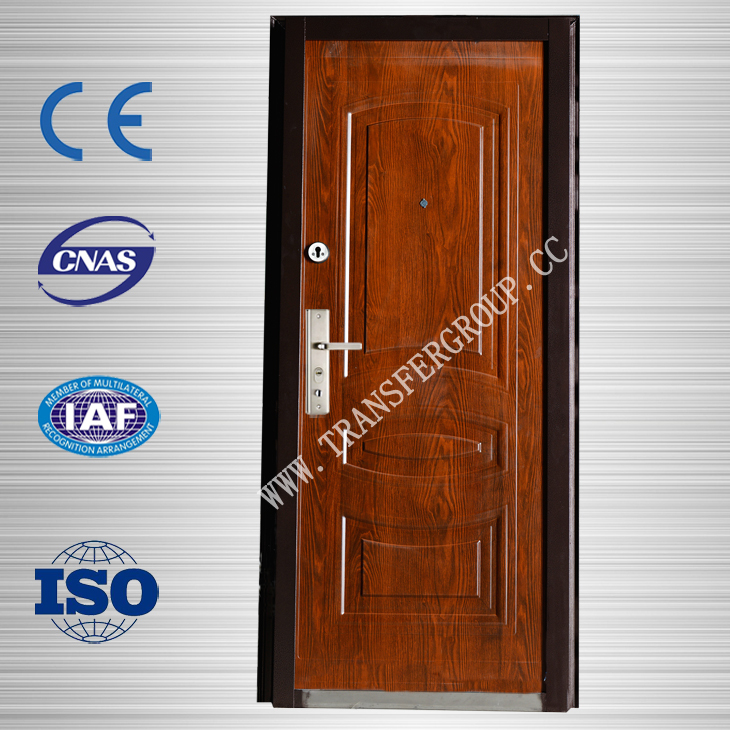 Reinforced safety MDF door steel wooden door for office