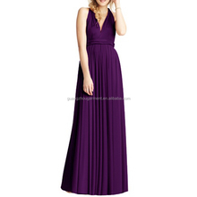 Women Convertible Multi Way Wrap Evening Party Full Length Maxi Dress