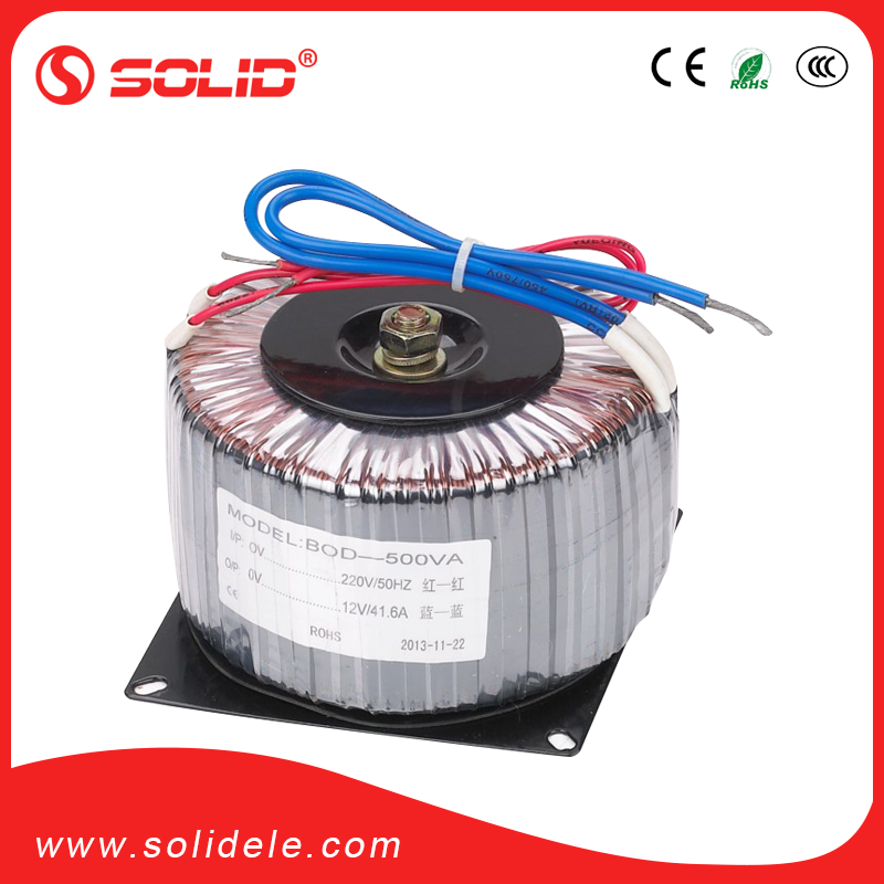 Solid electric pure copper wire high efficient toroidal high voltage transformer