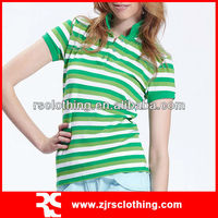 Ladies Classic Yarn Dyed Cotton Spandex Striped Polo shirt