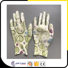 OPTIMA good quality light weight flower garden work colored ladies gloves