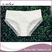 Women cotton lycra lace white underwear