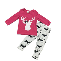 Christmas Clothes Newborn Toddler Baby Girls dress and Pants Xmas Clothes Set