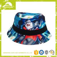 Colorful OEM and ODM fashion black bucket hat