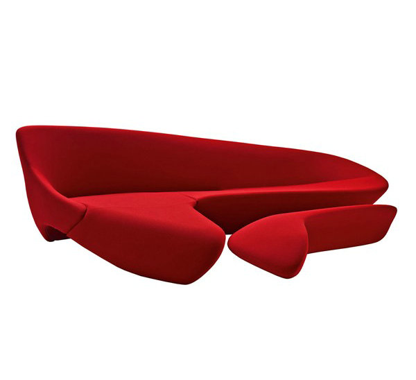 Replica Fibreglass Luxury home furniture moon shaped <strong>sofa</strong> designed by Zaha Hadid