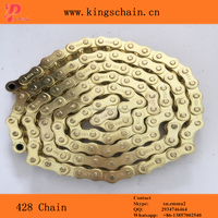 Heavy duty Gold 428H 120Link motorcycle transmission chain