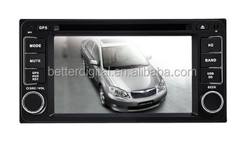 For Toyota universal 2 din car dvd player 200x100mm