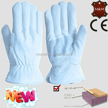NEWSAIL white Cow grain and split leather gloves/light industry safety gloves/working gloves