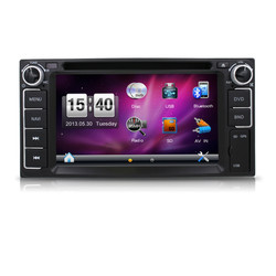 Factory price 2din 6.2inch car navigation and entertainmant system for toyota