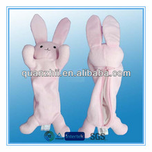 Animal shape plush pencil case rabbit design