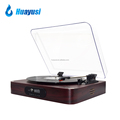 retro 3 speed vinyl records fm radio bluetooth usb turntable for vinyl to mp3
