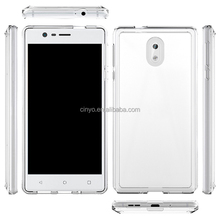 Hot selling 2 in 1 ultra slim crystal transparent bumper case for NOKIA 3