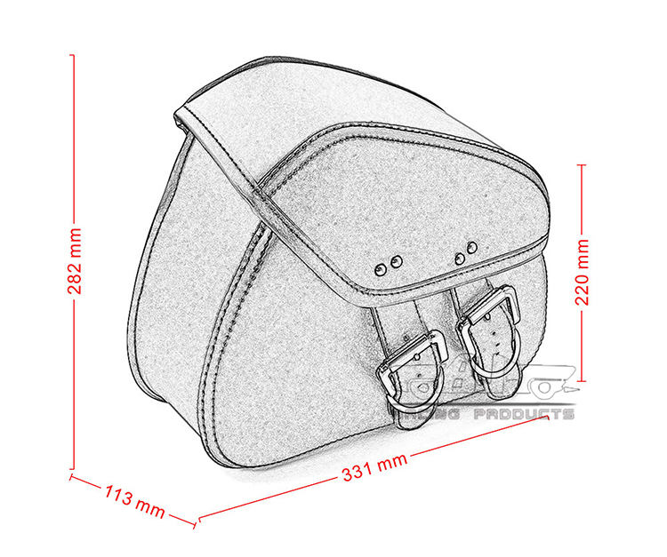 BJ-BAG-010 Universal PU Leather Motorcycle Saddlebags Side Saddle Bags