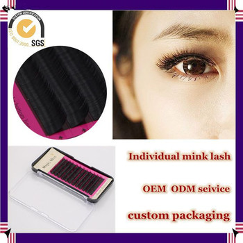 Milkyway popular hot sell J B C D curl handmade synthetic individual mink eyelash,mink lash extensions