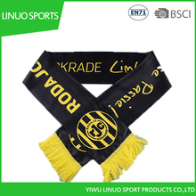 Black and yellow color long scarf with cheap satin printed sarf