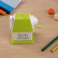 Fine quality novelty house shaped school plastic pencil sharpeners