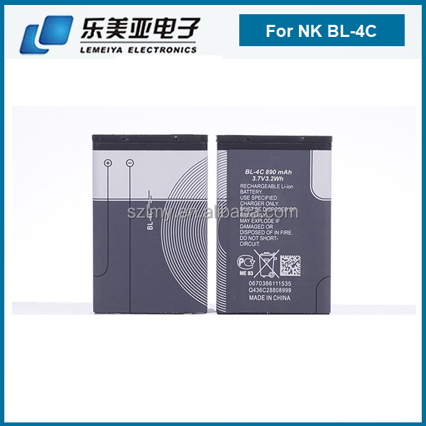 low price power capacity 890mah for nokia battery batteries all china phones model battery for nokia BL-4C