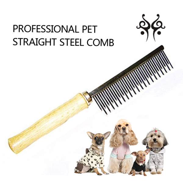 Wooden Handle Pet Pin Comb grooming comb dog comb