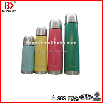 Eco-friendly double wall stainless steel vacuum cooling thermos with rubber coating