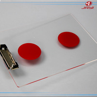 wholesale customize office stationery A3 A4 A5 acrylic plastic clip board with metal clip