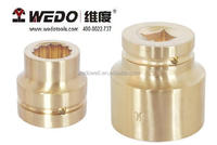 "3/4"" Impact Socket with Double Hex Points Aluminium Bronze/Beryllium Copper (non sparking tools) High-quality WEDO TOOLS"