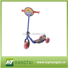 Best Design trike scooter,high quality three pu wheel kick scooter