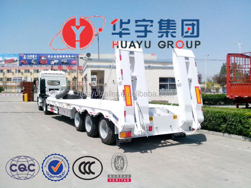 Famous Jupiter Brand Tri-axle Low Flat Bed Trailer In Truck Semi Trailer Or Semi-trailer Truck From China Manufacturer