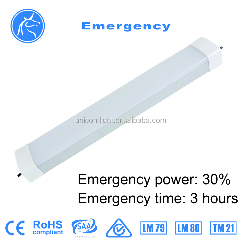 Promotion IK10 40w led tri-proof light fixture with Emergency