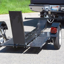 Small Motorcycle Trailer Aluminum Folding Motorcycle Single Rail Trailer with OEM Service