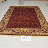 Dubai exports silk hand made 6.56x9.84ft living room or prayer modern big carpet rolls in stock