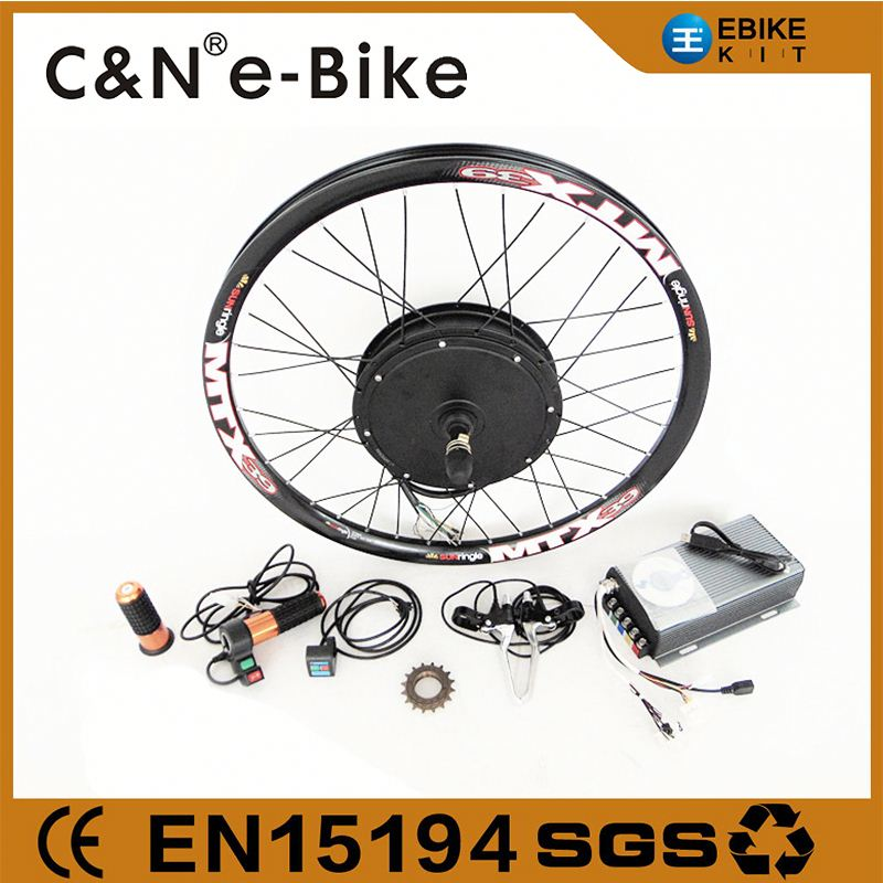 High speed super power 60V-96v brushless hub motor 5000w ebike conversion kit