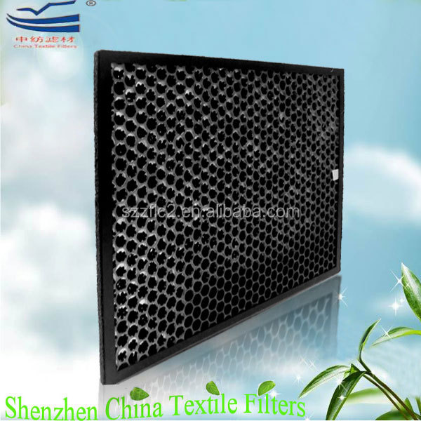 polypropylene plastic honeycomb air filter mesh