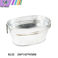 Decorative Galvanized Tinplate Material Tin Bucket with Handle