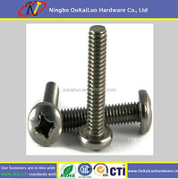 High hardness Phillips Pan Head Machine Screw Black/White Zinc