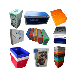 Hot sale trade assurance clear color corrugated storage moving electronic food folding packaging plastic box carton tray