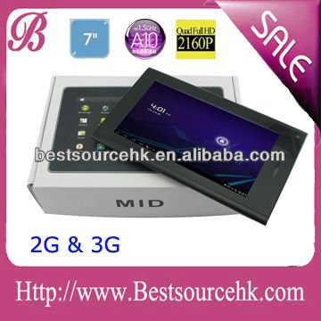 7 inch Android Tablet PC 3G phone call function 2G GSM 512M 4G