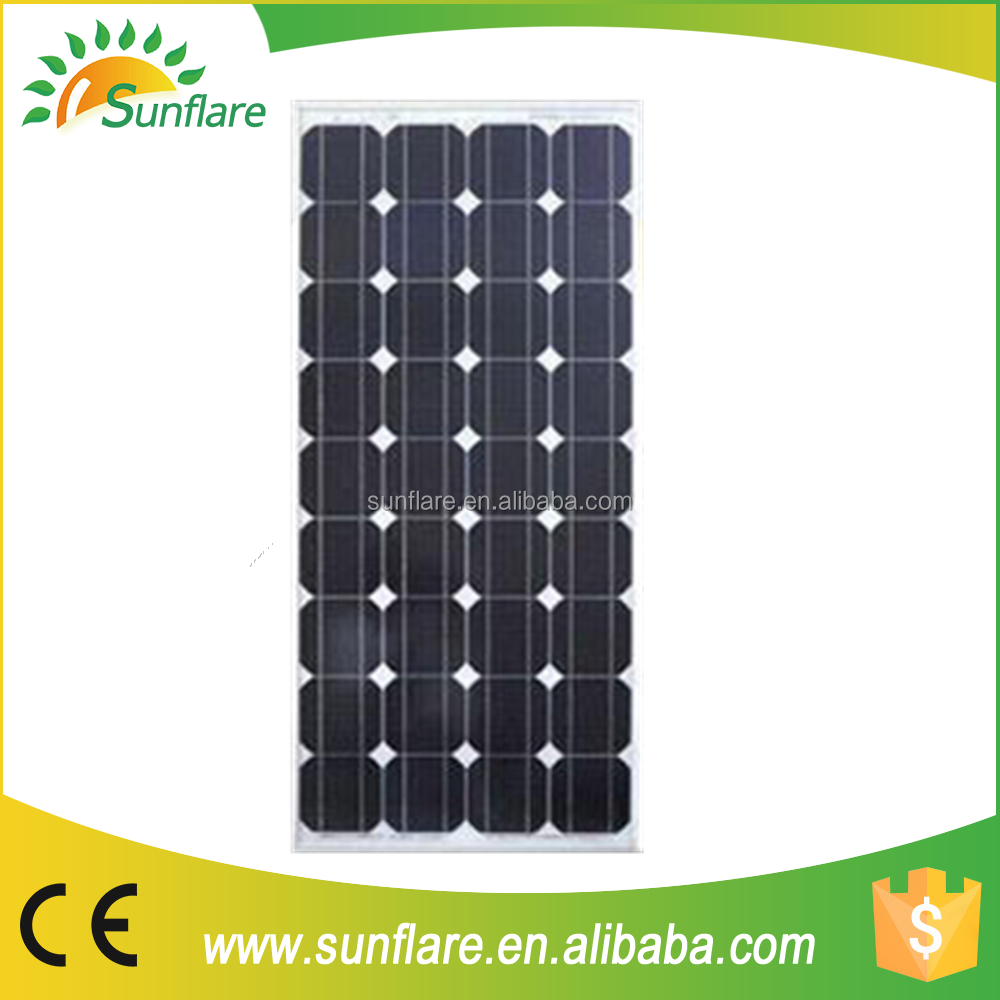 new design and hot sale 95w 36 cells mono solar panel