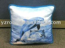 Inflatable pillow with dolphin pattern soft toy