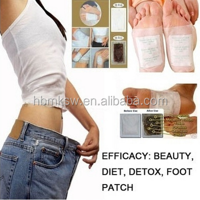 Natural ingredients bamboo wood vinegar detox relax foot patch with plaster